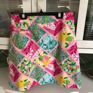 Lilly Pulitzer skirt size 4 multi pattern